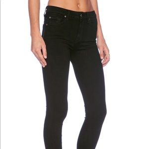 7 For All Mankind Gwenevere Black Skinny Jeans 24